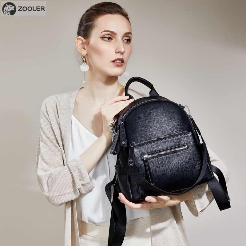 Zooler Genuine Leather bags women cow backpack luxury designer backpacks black style travel bag high quality large tote bag#W201Zooler Genuine Leather bags women cow backpack luxury designer backpacks black style travel bag high quality large tote bag#W201