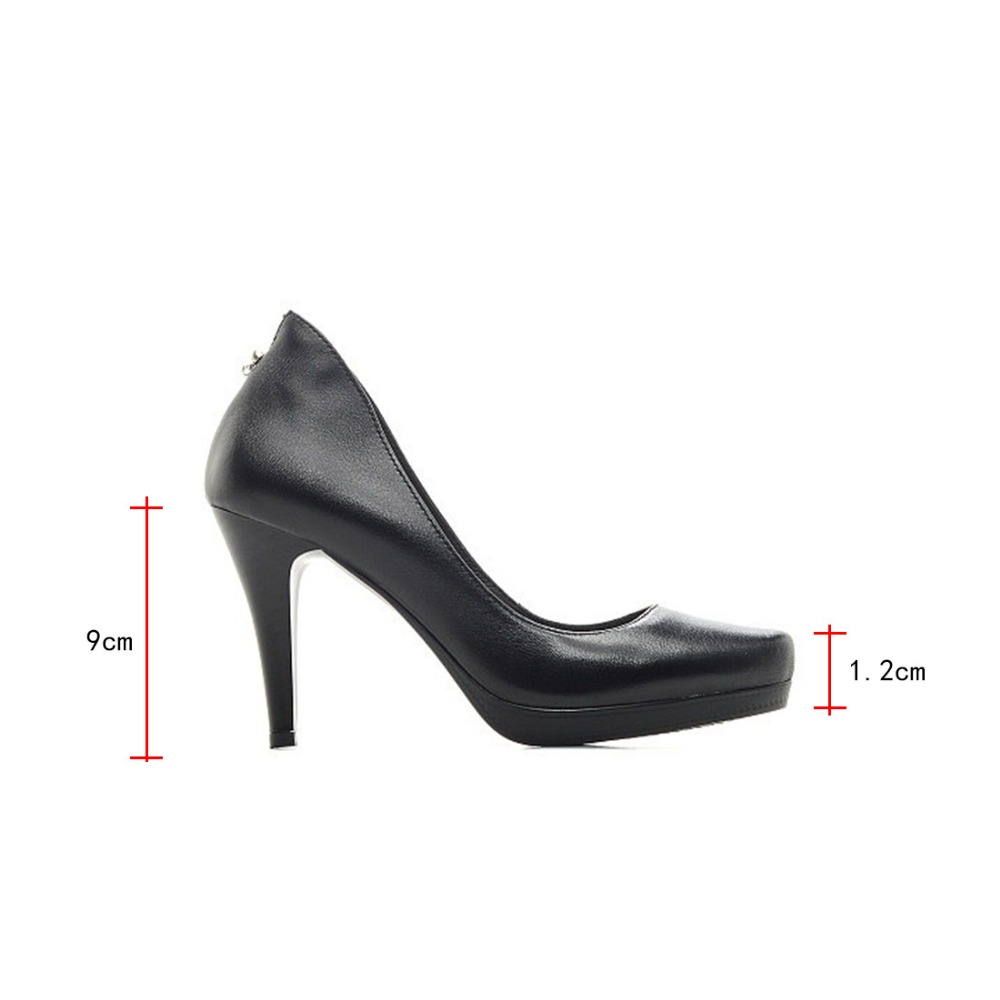 Mujer Lidian De Plataforma red Black Tacones Novedad Sólido Zapatos Altura Cuero Color Negro X2 Bombas Charol Rojo Vestido Genuino rAfIUWvnA