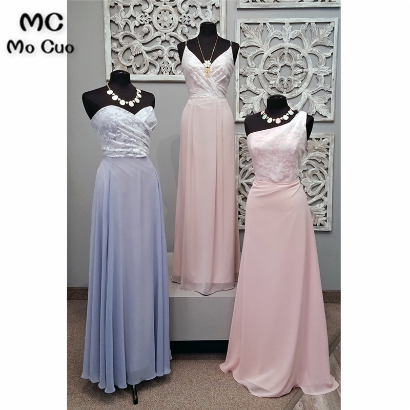 New 2018 Beach   Bridesmaid     Dresses   with 3 Style Lace Wedding Party   Dress   vestido de festa Off shoulder   bridesmaid     dress