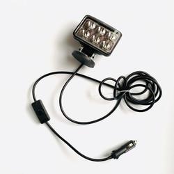Projecteur magnétique de voiture 12v24v | Projecteurs pour camions 4x4 tête hors route, antibrouillard Portable, lampe de projecteur de sauvetage, de Camping et de pêche