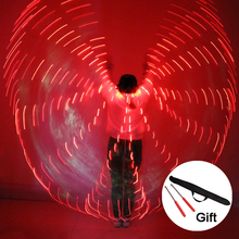 2018 Women LED Light Isis Wings Belly Dance Costumes 360 Egyptian Stage Performance New Arrival DJ With Sticks