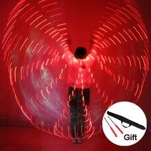 2018 kobiet LED Light Isis Wings stroje do tańca brzucha 360 egipski występ na scenie New Arrival DJ skrzydła LED z patyczkami