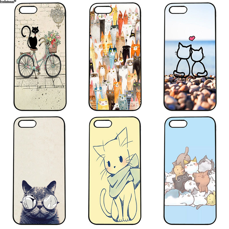 Hot Lovely Animal Cats Face Phone Cases Hard PC Plastic Cover for iphone 8 7 6 6S Plus X 5S 5C 5 SE 4 4S iPod Touch 4 5 6 Shell