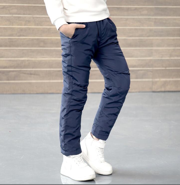 756961423febc Winter Cotton Add wool Kids Straight Pants Boys Girl Warm Waterproof  Leggings Pants Long Trouser thick outdoor Trouser Children
