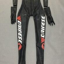 Мужской гоночный велосипед латексный комбинезон мотоцикл гонки с носками и съемными перчатками