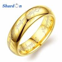 SHARDON Os Senhores dos Anéis Mens Wedding Band Comfort Fit Engagement Promise Ring for Men & Women