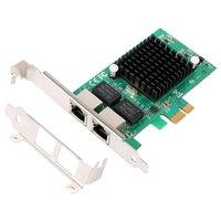 Gigabit Ethernet PCI Express PCI E Network Controller Card 10/100/1000Mbps RJ45 x 2 PCIE Server Network Card LAN Adapter