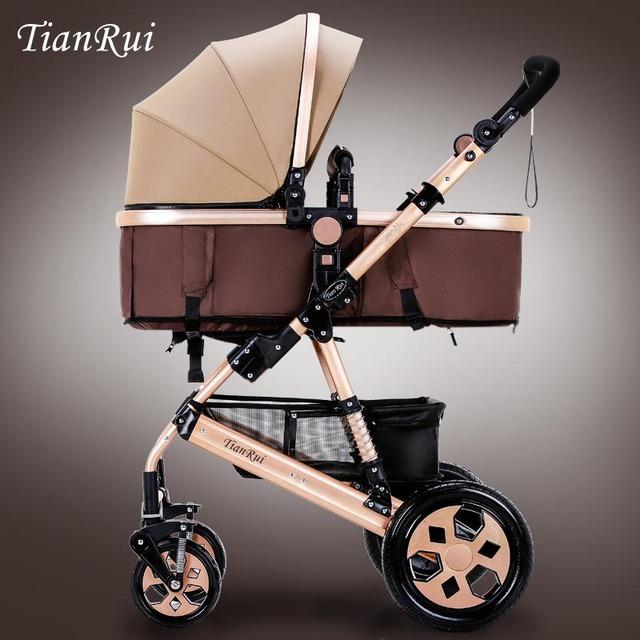 Lujo cochecito de bebé amortiguadores del coche de bebé de Alta paisaje del cochecito de bebé Del Carro de Bebé Para Niño Recién Nacido de Cuatro Ruedas