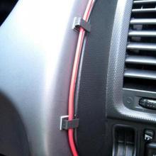 40Pcs Car Auto Cord Fixed Clips Self-adhesive GPS Data Cable Light Decorative Wire Fixing Organizer Accessory Plastic