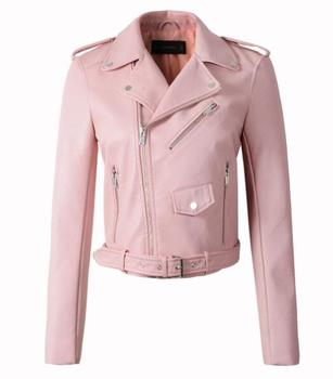 New Arrival brand Winter Autumn Motorcycle leather jackets yellow leather jacket women leather coat  slim PU jacket Leather 7