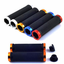 1 pair MTB BMX Road Cycling Handlebar Grips Anti-Skid Rubber Bicycle Grips Mountain Bike Lock On Bicycle Handlebars End Grips(China)