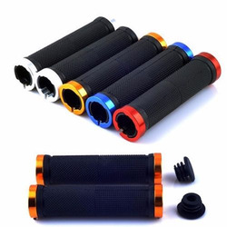 1 pair MTB BMX Road Cycling Handlebar Grips Anti-Skid Rubber Bicycle Grips Mountain Bike Lock On Bicycle Handlebars End Grips