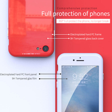 Ultra Magnetic Adsorption Case For iPhone 8 7 6 6S S Plus 360 Degree Full Body Magnet Case Tempered Glass+Hard PC Cover