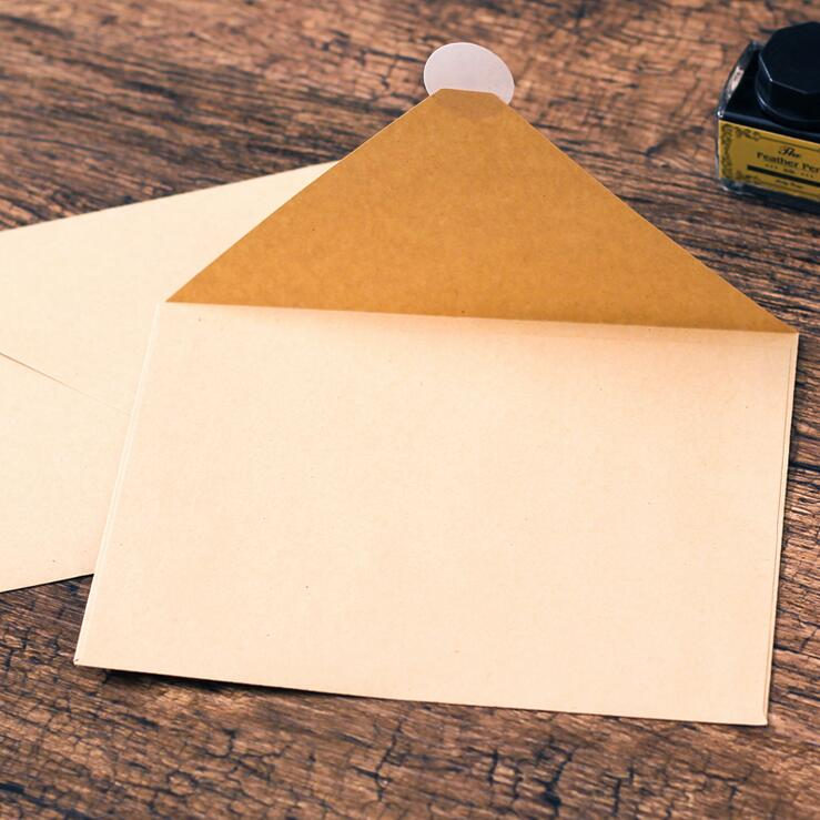 50PCS/lot NEW Vintage simple Kraft paper envelope 16*11cm diy Gift envelopes for wedding red envelope supplies 5