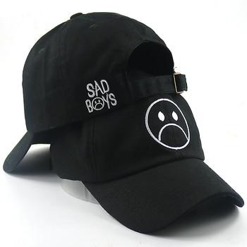 Chico triste gorra de béisbol de moda sombrero de papá llorando cara de algodón  sombrero de Hip hop gorras sombreros negro Harajuku monopatín sombreros ... cc8eb1b8278
