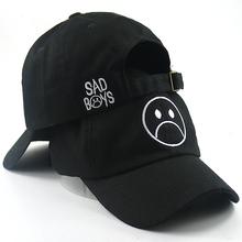 Sad Boy baseball cap fashion dad hat crying face cotton hat Hip hop caps Headwear Black