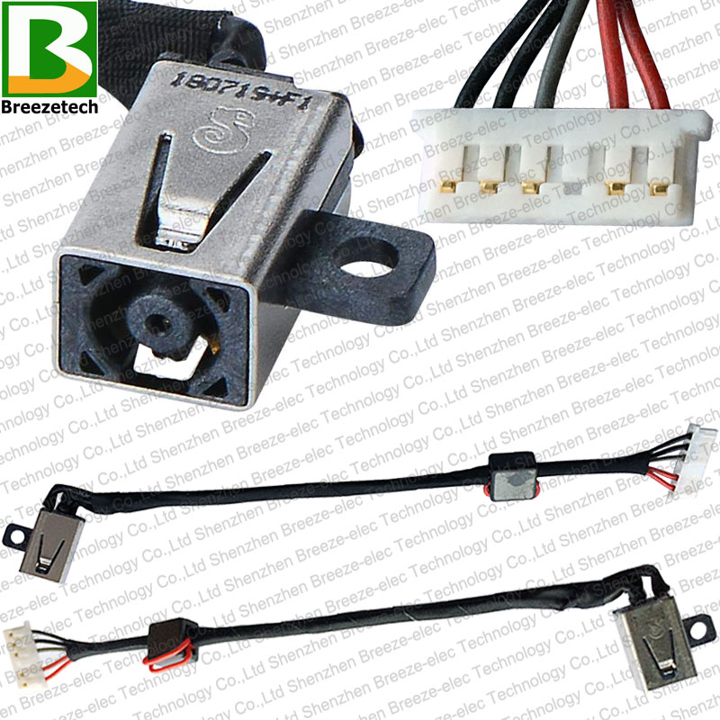 <font><b>DC</b></font> Power <font><b>Jack</b></font> socket Cable Wire connector for <font><b>Dell</b></font> Inspiron 15-5000 5551 <font><b>5558</b></font> 5555 14 5455 5458 5347 P51F DC30100UD00 0KD4T9 image