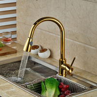 Good Quality Single Handle Bathroom Kitchen Mixer Tap With Hot And Cold Water Pull Out Deck