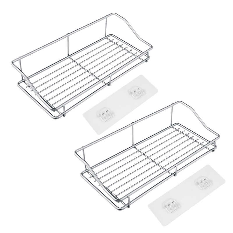 Image 3 - Kitchen Stainless Steel Storage Rack Towel Plate Drain Rack Dish Removable Holder Kitchen Bathroom Tableware Sink Dish Storage-in Racks & Holders from Home & Garden