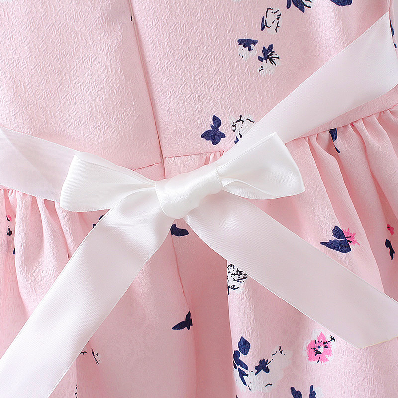 HTB13DQQQFXXXXckXpXXq6xXFXXXW - LCJMMO 2017 Baby Girl Dress Summer Floral Princess Party Cute Cotton Baby Girls Clothing Kids Lolita bow-knot Dresses For 6-24M