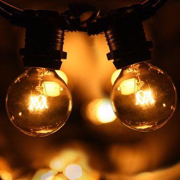 AU SAA Versatile Outdoor Indoor 10m G40 Festoon string lights for Christmas Wedding Party Decoration lighting
