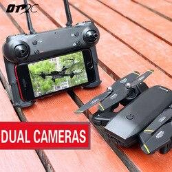 Câmera Zangão Com Câmera HD Dron d107 Posicionamento De Fluxo Óptico Altitude Hold Quadcopters FPV Folding RC Helicóptero Quadrocopter
