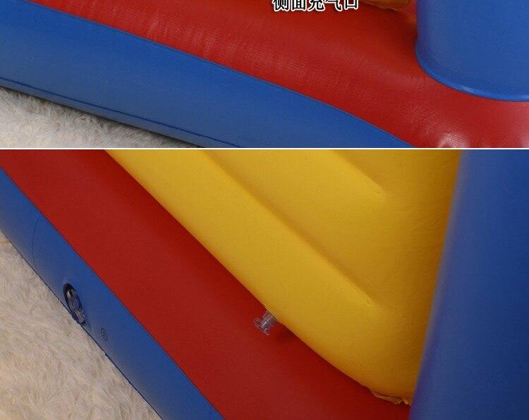 Crianças castelo trampolim saltando oceano bola piscina playground inflável almofada