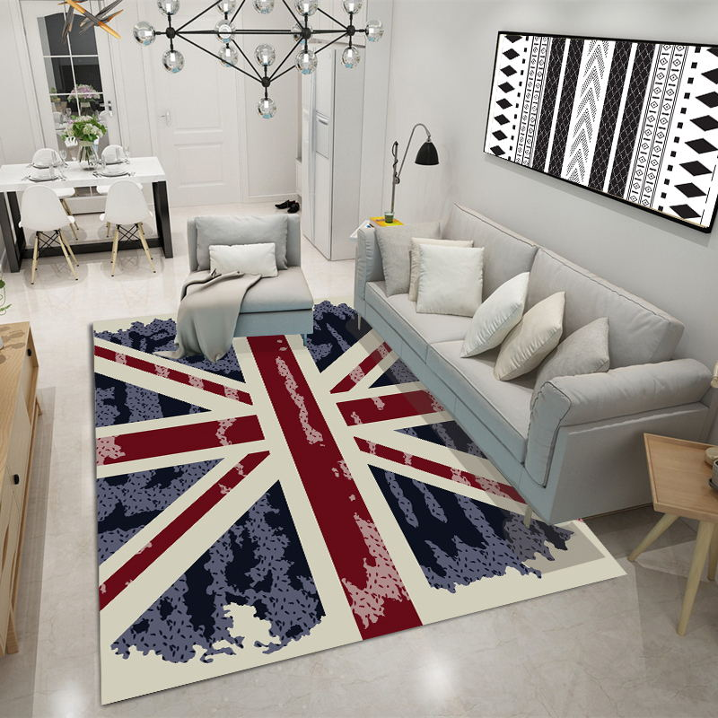 3D Pattern printed carpet modern geometric coffee table bedroom living room footpad non slip model carpet Decoration in Carpet from Home Garden