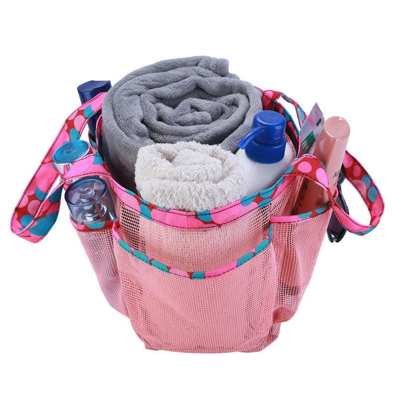 Portable Mesh Shower Caddy with Multi Storage Pockets Fast Dry Hanging Bath Toiletry Bag TB Sale