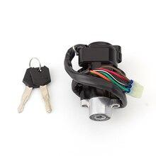 цена на Auto Motorbike Lock Switch Ignition with 6-Pins 2 Keys for Suzuki GSX750 1998-2006