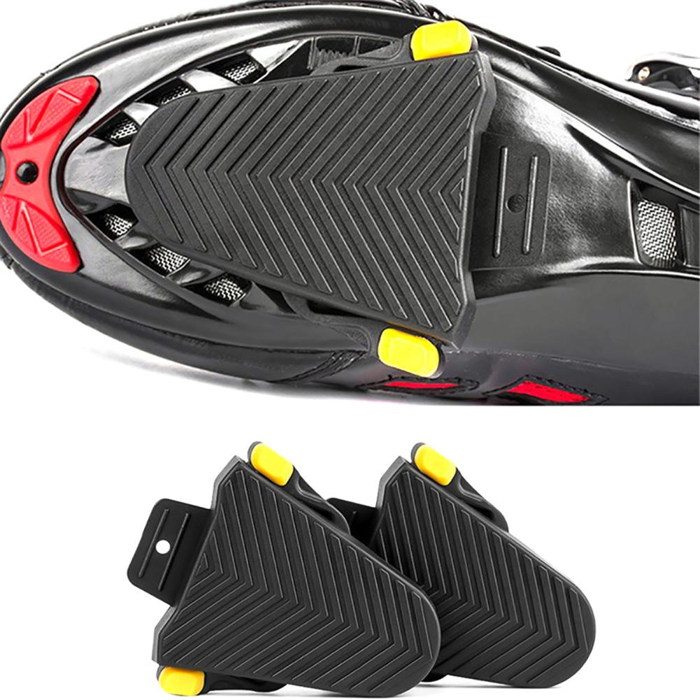 One Pair Quick Release Rubber Cleat Cover Bike Pedal Cleats Covers For Shimano SPD-SL Cleats Bicycle Accessories(China)