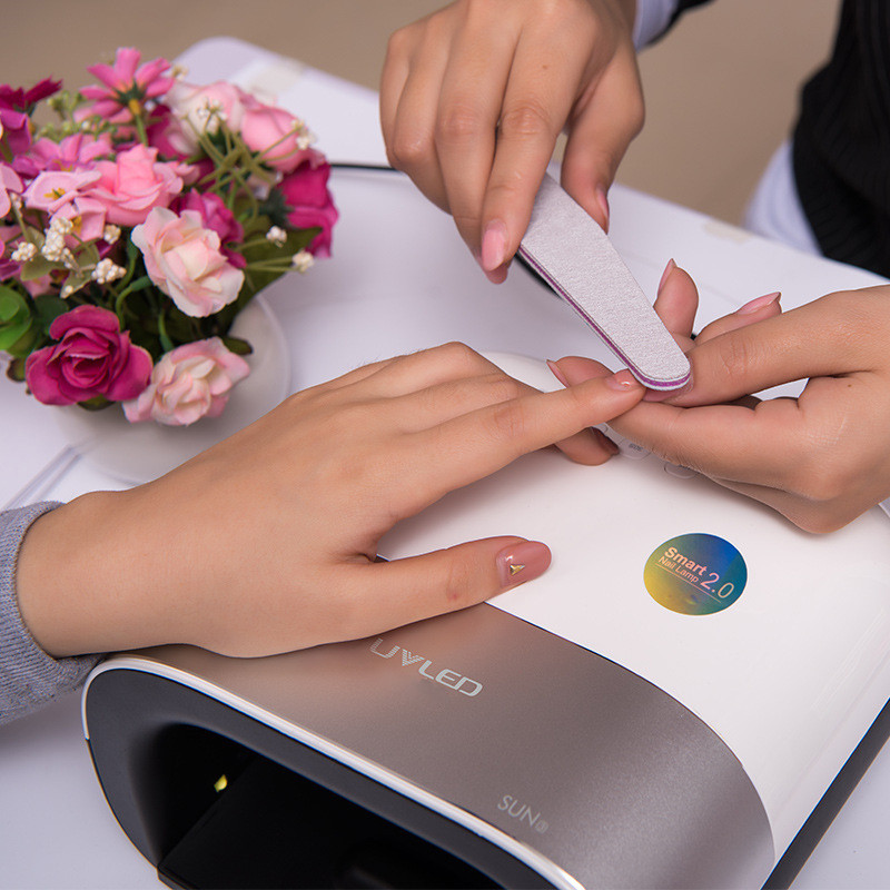 Professional 1 Pc 48W Nail Dryer Lamp for nail gel polish with Smart Timer Memory Phototherapy Manicure 2.0 LED UV Nail Lamp excellet value 1 pc blue medium 3 32 white ceramic nail drill bit manicure professional electric manicure cutter nail tools