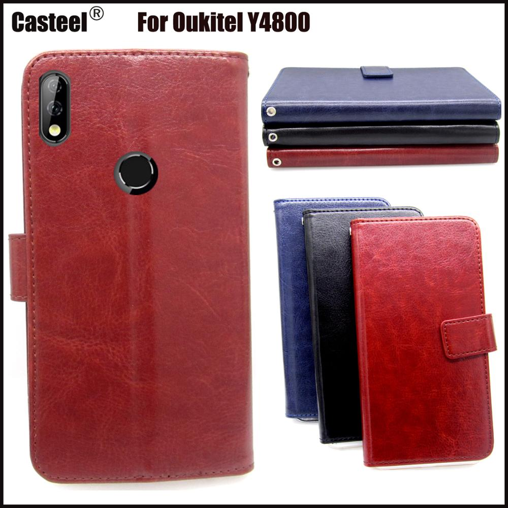 Casteel Classic Flight Series high quality PU skin leather case For Oukitel Y4800 Case Cover Shield in Wallet Cases from Cellphones Telecommunications