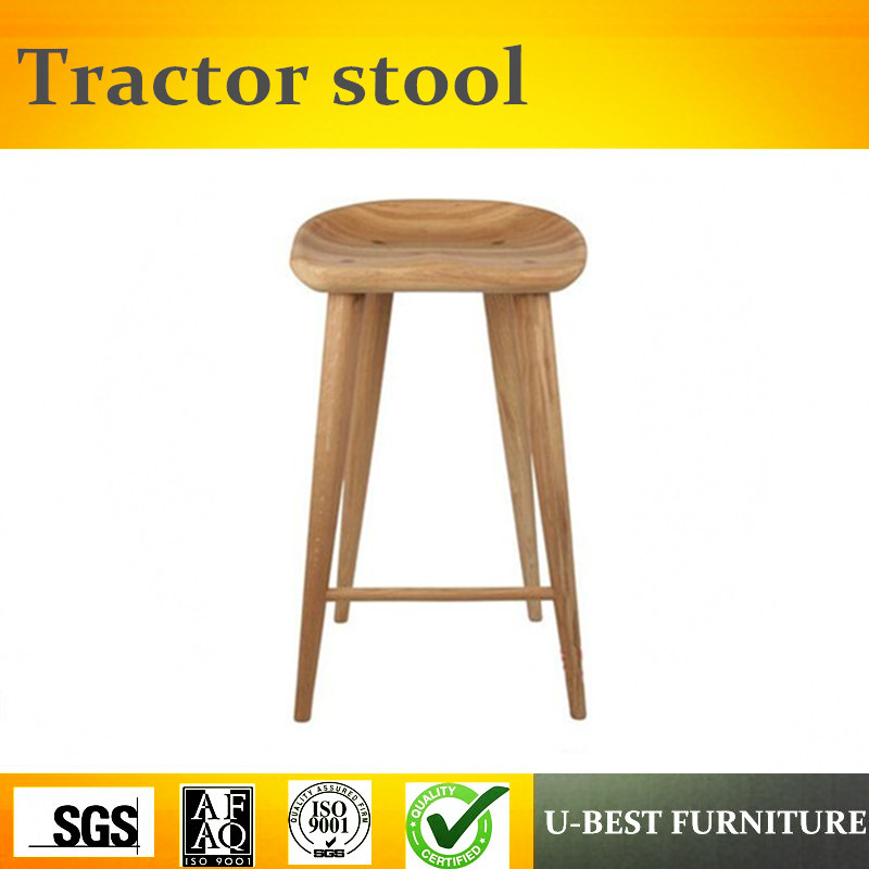 Free Shipping U-BEST Vintage Design Home Furniture Solid Wood Tractor Bar Stool Wooden Stool 66cm
