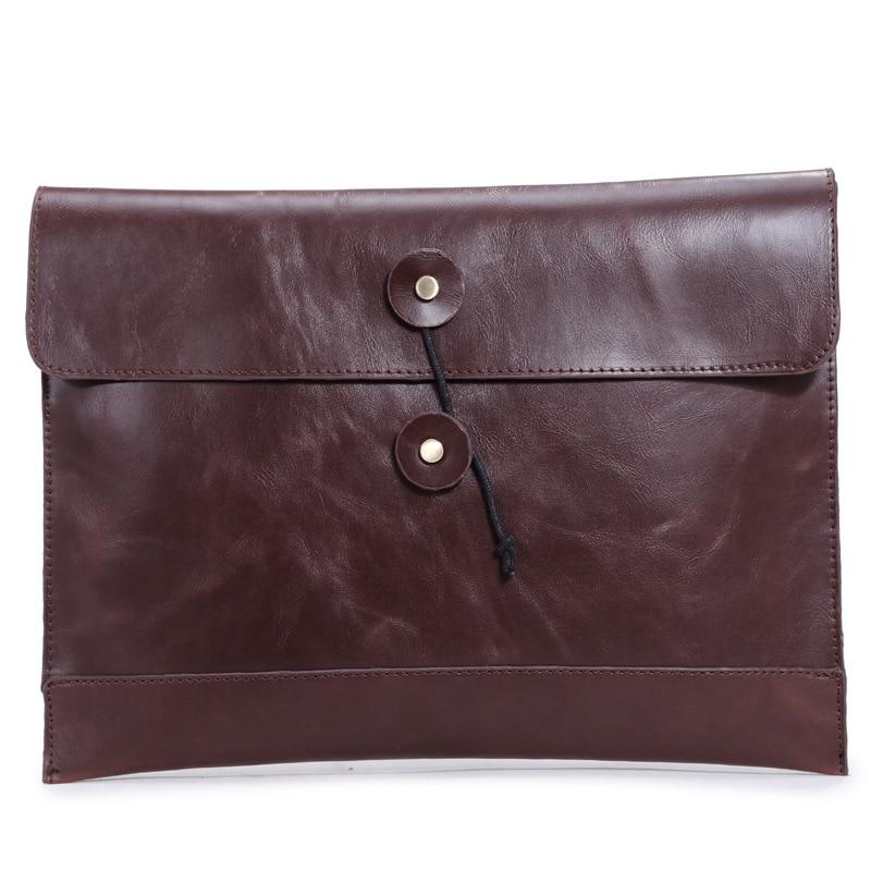 2016 Fashion Men Handbag Genuine Leather Men Briefcase Casual Hasp Envelope Bag Business Men Messenger Bags Men Travel Bags6920
