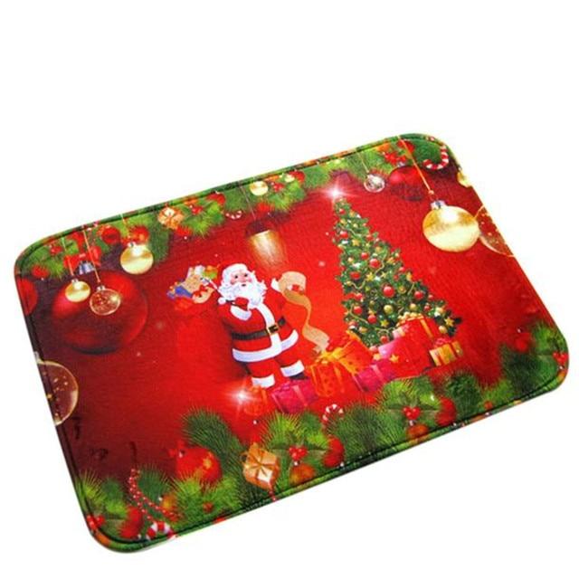 40*60cm Christmas HD Printed Non-Slip Bath Mat Absorbent Waterproof Home Decor 161207