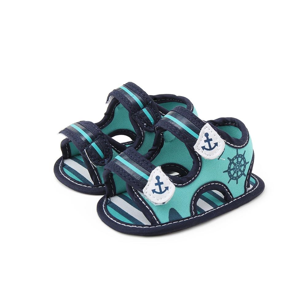 Delebao Summer New Design Baby Boy Sandals Green stripe ...