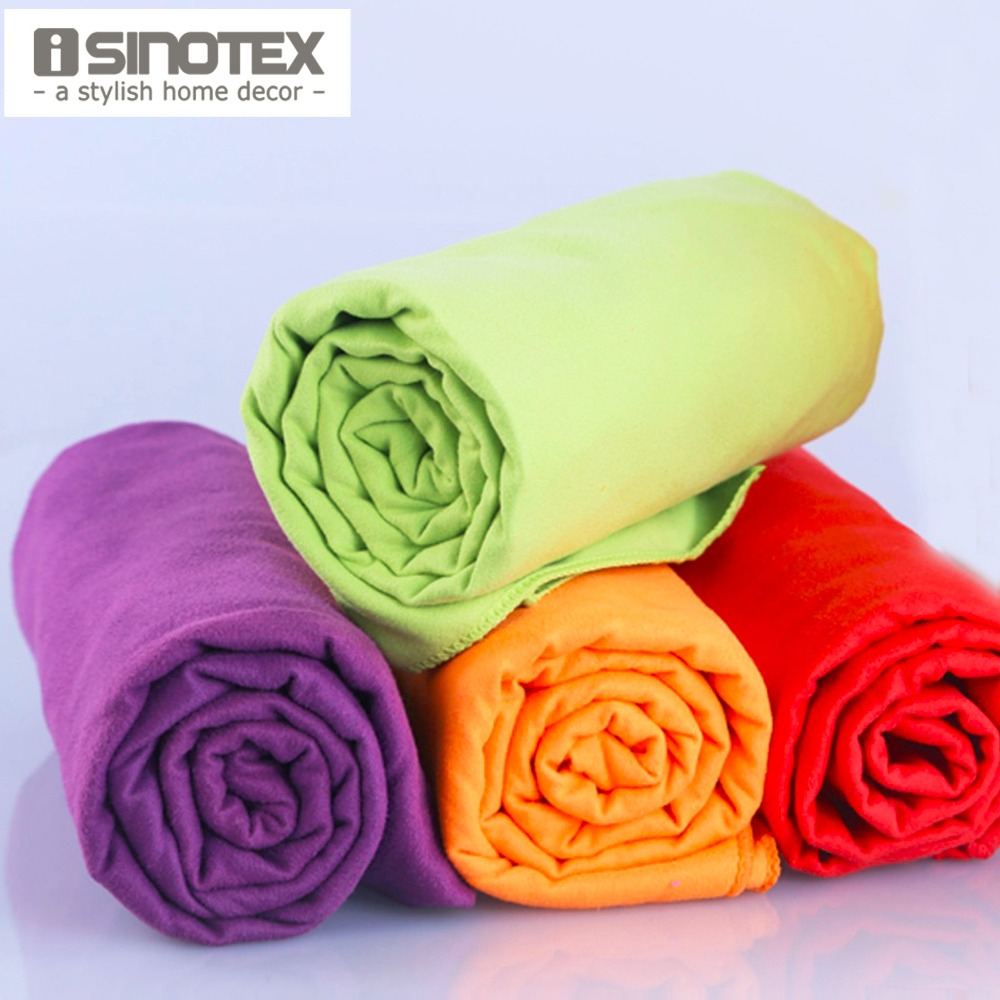 Wholesale 4pcs/lot 40x75cm Sports Towel Microfiber Towel Travel Camping Swim Gym Washcloth Cloth With Bag toalha de esportes