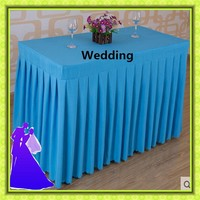180*45*75cm wedding cheap table skirt polyester for sale free shipping