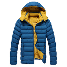 2016 Winter Jacket Men Fashion Hooded Collar Outdoors Casual Windproof Waterproof Thicken Warm Men Down Cotton Clothes