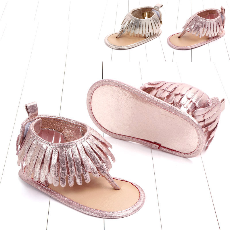 Baby comfortable sandals 2018 summer new boy girls beach shoes kids casual sandals children fashion Baby Girl Tassel Sandals (1)