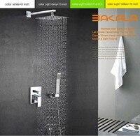 5 компл. Бакала роскошный 16 Нержавеющаясталь Ванная комната тропический душ смесители голову, набор для душа с ручной душ