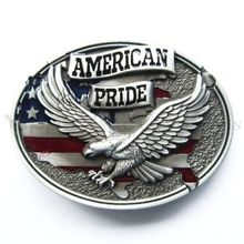 Low price custom belt buckles wholesale Eagle hot sales American Pride Flag buckle cheap new