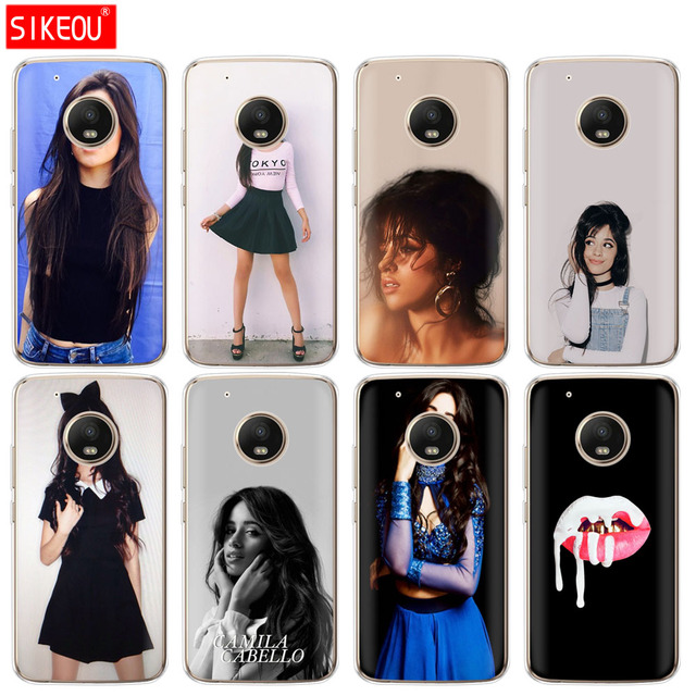 50a53385870 silicone case phone cover For Motorola Moto G6 G5 G5S Z2 Z3 PLAY PLUS X4 E4  E5 C Camila Cabello Ultra Thin Cartoon Pattern