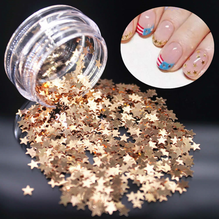 Beauty & Health Nail Art New Fashion Best Seller Nail Art 250 Pieces Gold Silver 5mm Star Metal Studs For Nails Dropship X726 High Quality Goods