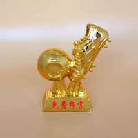 World Golden Boots Trophy Real Scale 1 1 Football Soccer Souvenirs For Soccer Match Award Collectible