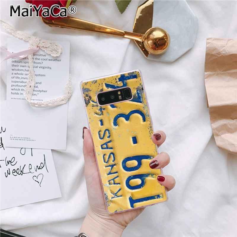 MaiYaCa забавные номерной знак мягкий чехол для телефона для Samsung Galaxy S8 S7 край S6 S10 Lite S10Plus S10E S9plus