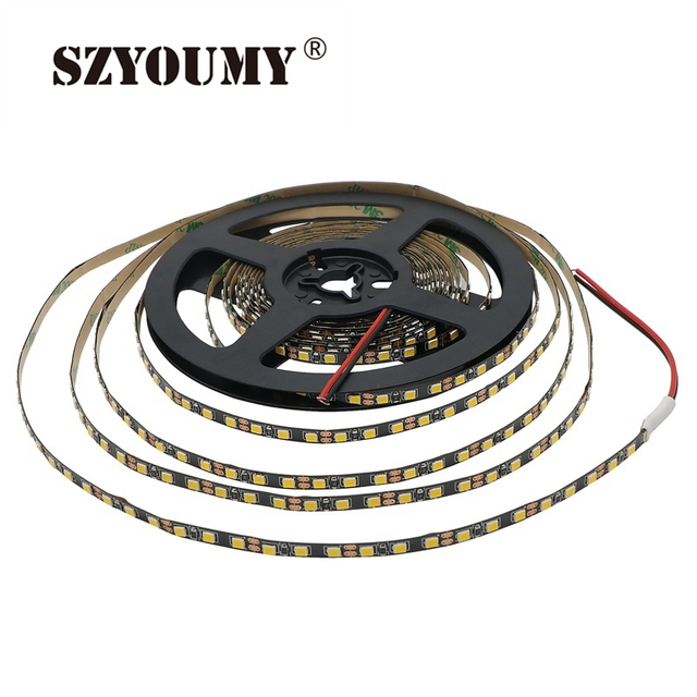 5M LED Strip 2835 120 LED/m IP20 NO Waterproof DC12V Flexible LED Light 5MM PCB Width LED Strip