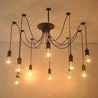 Criativo luz pingente ajustável diy aranha projeto rh loft armazém industrial edison vintage lâmpadas de teto para casa