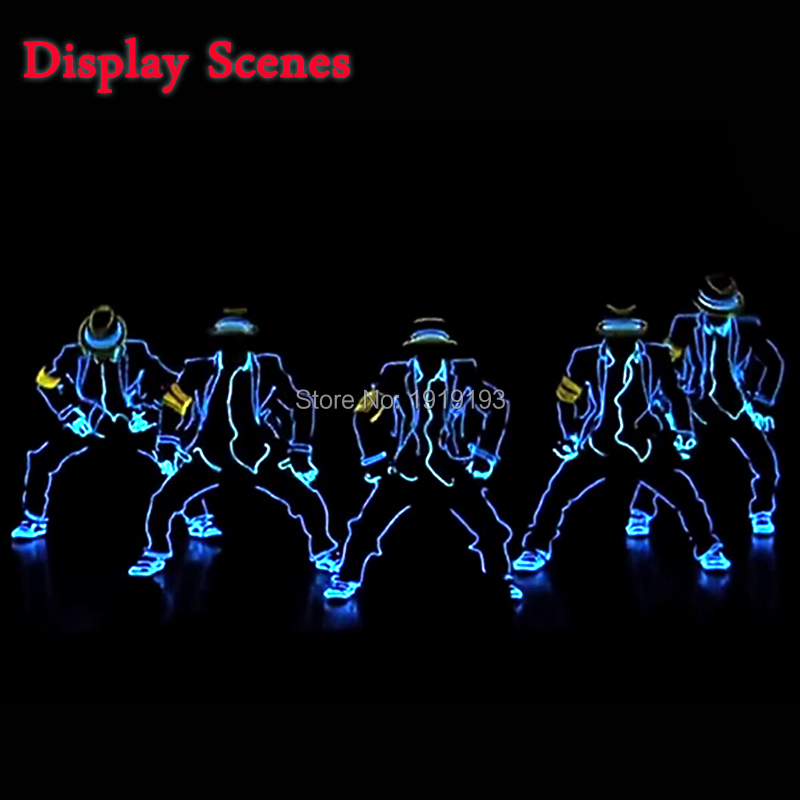 New Fashion LED/EL Clothes Luminous Costumes EL Suits Light up Gloves Shoes Glowing Clothing Men Clothes Dance holiday lighting h6 motorcycle motor hid xenon kit bi motorcycle hid headlight bulbs universal motorbike hid light ballast lamp 12v auto